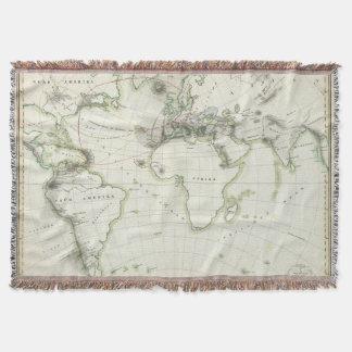 Volcanic Activity Map Throw Blanket