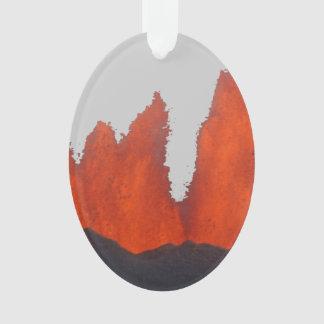 Volcanic Fire Fountain Ornament