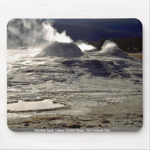 Volcanic land, Upper Geyser Basin, Yellowstone Nat Mouse Pad