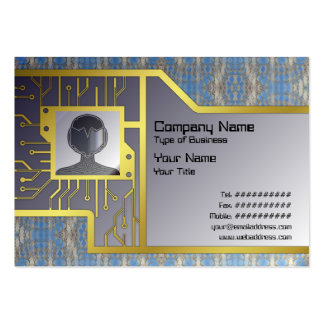 Volcanic Rock Formation Seamless Illusion Business Card Template