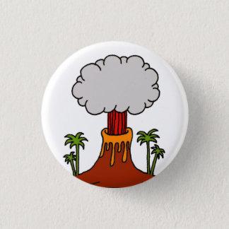 Volcano 3 Cm Round Badge