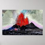 Volcano 7 enamel posters