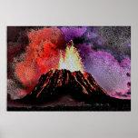 Volcano 9 enamel print