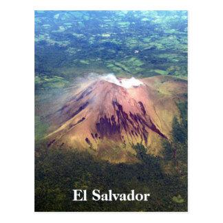volcano aerial el salvador postcard