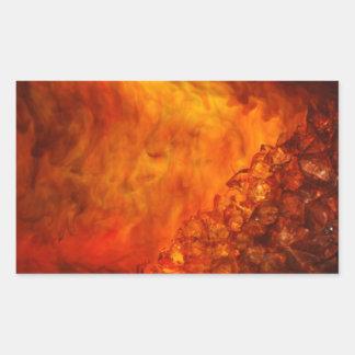 """Volcano"" collection original Lyrical Abstraction Rectangular Sticker"