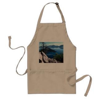 Volcano Deep Blue Crater Lake Oregon USA Standard Apron