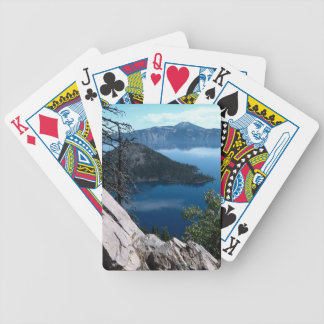 Volcano Deep Blue Crater Lake Oregon USA Bicycle Playing Cards