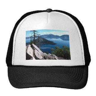 Volcano Deep Blue Crater Lake Oregon USA Trucker Hat