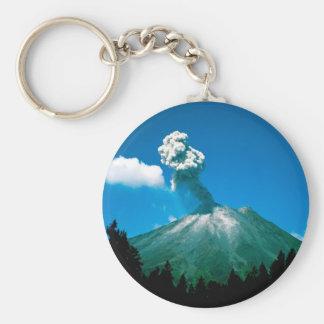 Volcano Erupting Costa Rica Key Ring