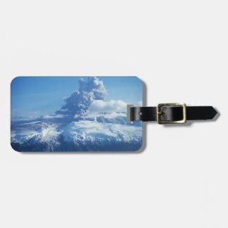 Volcano Eruption Iceland Luggage Tag