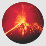 Volcano Hot Lava 1991 Costa Rica Round Sticker