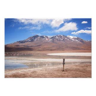 Volcano in an Altiplano landscape photo print