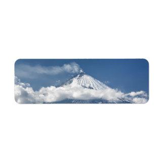 Volcano Klyuchevskaya Sopka in Kamchatka Peninsula Return Address Label