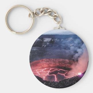 Volcano molten basic round button key ring