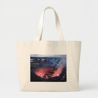 Volcano molten large tote bag