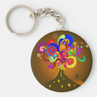 Volcano Oozing Of Color Key Ring