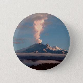 Volcano Ruapehu Tongariro New Zealand 6 Cm Round Badge