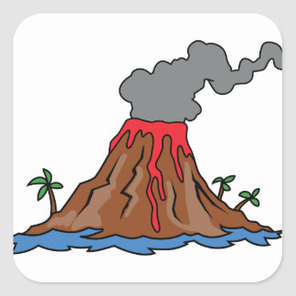 Volcano Square Sticker
