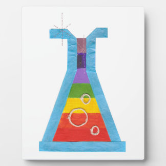 Volcano Vial No Background on an Easel Plaque