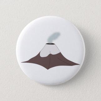 Volcano volcano 6 cm round badge