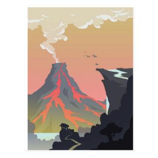 Volcano Waterfall Postcard