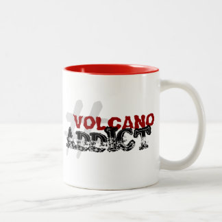 #VolcanoAddict Two-Tone Coffee Mug