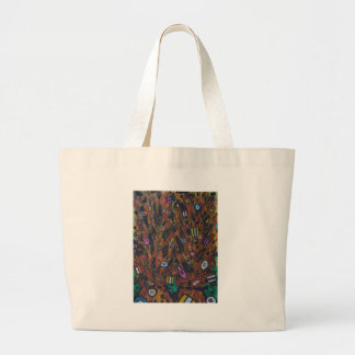 Volcanoes erupting confectionary large tote bag