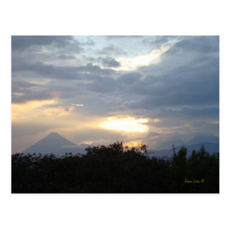 Volcanos at Sunset Postcard