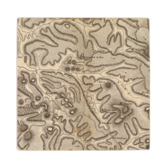 Volcans Haute Loire Maple Wood Coaster