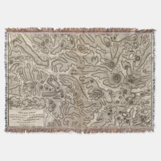 Volcans Haute Loire Throw Blanket