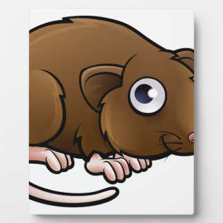 Vole Cartoon Character Plaque