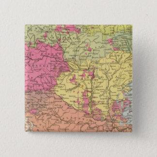 Volkerkarte v Oesterreich Ungarn, Austria Hungary 15 Cm Square Badge