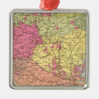 Volkerkarte v Oesterreich Ungarn, Austria Hungary Silver-Colored Square Decoration
