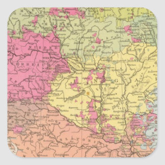Volkerkarte v Oesterreich Ungarn, Austria Hungary Square Sticker