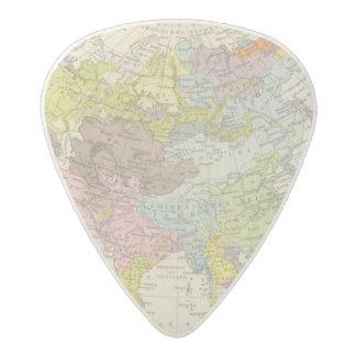 Volkerkarte von Asien - Map of Asia Acetal Guitar Pick
