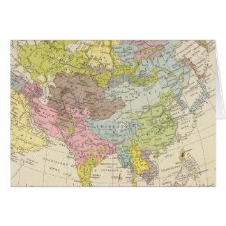 Volkerkarte von Asien - Map of Asia Card