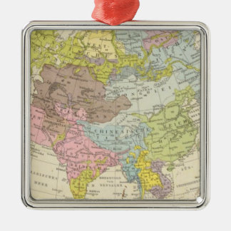 Volkerkarte von Asien - Map of Asia Christmas Ornament