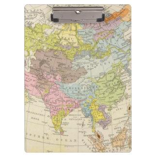 Volkerkarte von Asien - Map of Asia Clipboard