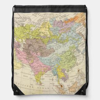 Volkerkarte von Asien - Map of Asia Drawstring Bag