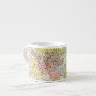 Volkerkarte von Asien - Map of Asia Espresso Cup