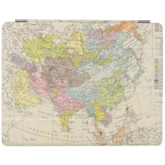 Volkerkarte von Asien - Map of Asia iPad Cover