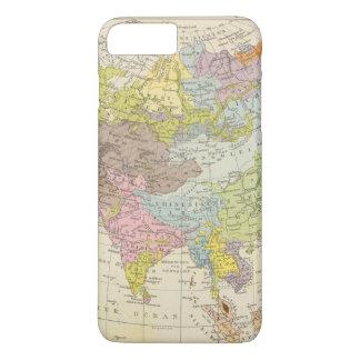 Volkerkarte von Asien - Map of Asia iPhone 8 Plus/7 Plus Case