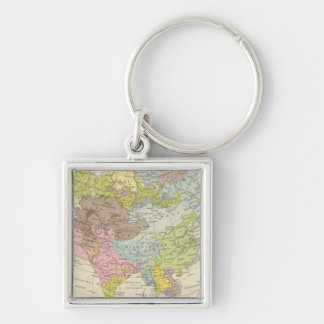 Volkerkarte von Asien - Map of Asia Key Ring