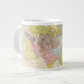 Volkerkarte von Asien - Map of Asia Large Coffee Mug