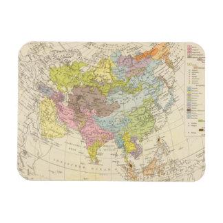 Volkerkarte von Asien - Map of Asia Magnet