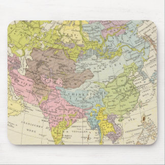 Volkerkarte von Asien - Map of Asia Mouse Mat