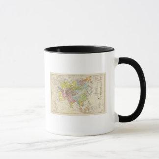 Volkerkarte von Asien - Map of Asia Mug