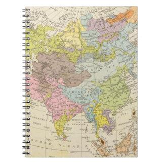 Volkerkarte von Asien - Map of Asia Notebooks