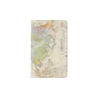 Volkerkarte von Asien - Map of Asia Pocket Moleskine Notebook