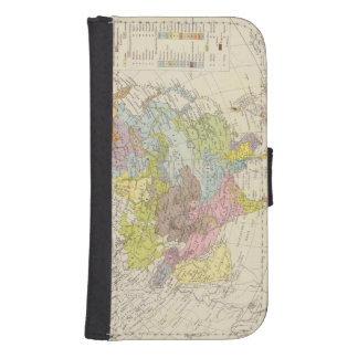 Volkerkarte von Asien - Map of Asia Samsung S4 Wallet Case